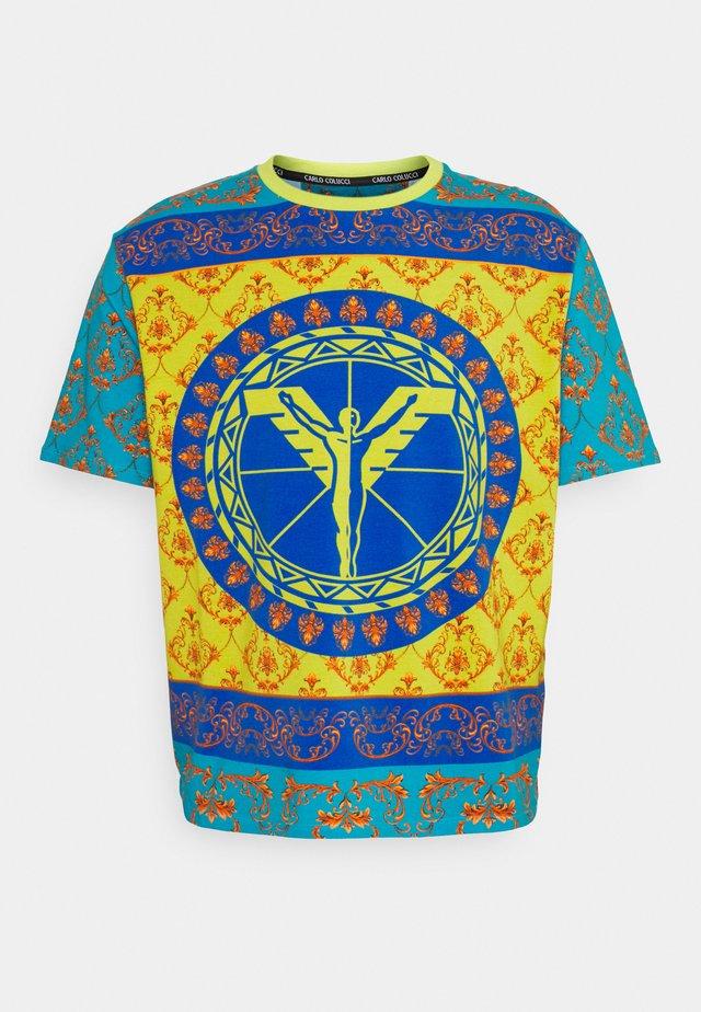 COLOURS UNISEX - T-shirt imprimé - petrol