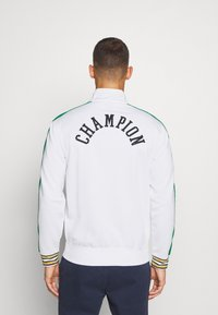 Champion - ROCHESTER RETRO BASKET FULL ZIP - Kurtka sportowa - white/green - 2
