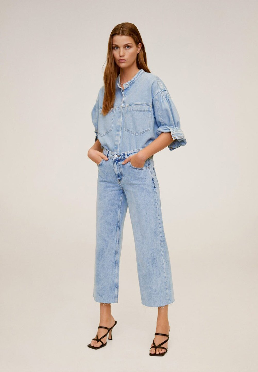 Mango CULOTTE  - Jeans Relaxed Fit - middenblauw -  olree