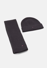 Tommy Hilfiger - BEANIE SCARF UNISEX SET - Scarf - charcoal gray - 0