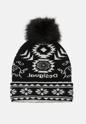HAT ETHNIC REVERSIBLE - Bonnet - black