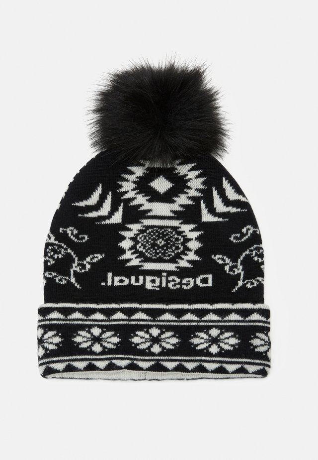 HAT ETHNIC REVERSIBLE - Mütze - black