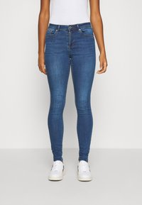 Vero Moda - VMTANYA PIPING - Jeans Skinny Fit - dark blue denim - 0