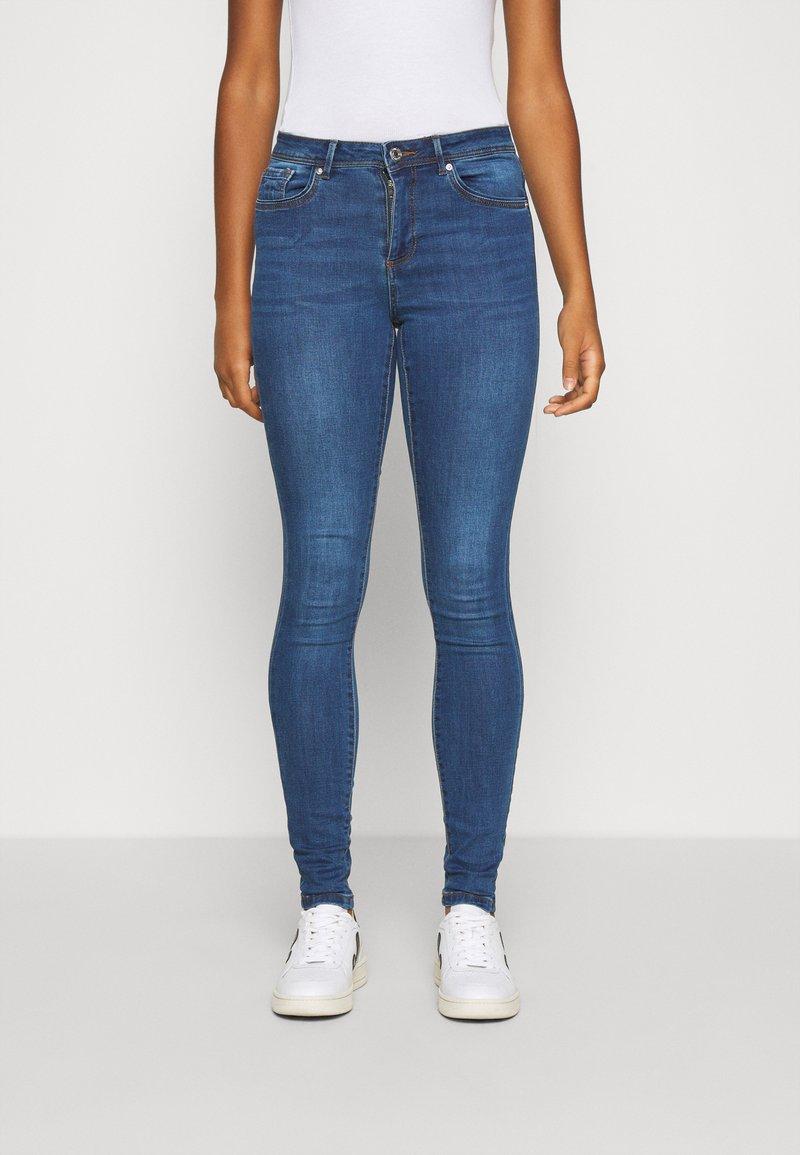 Vero Moda - VMTANYA PIPING - Jeans Skinny - dark blue denim