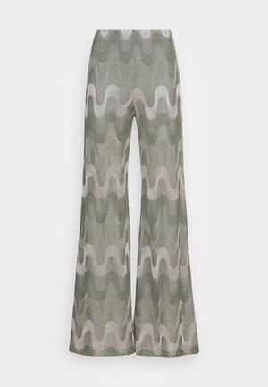 TROUSERS - Trousers - artichoke/pale pink