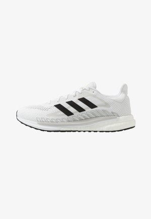 SOLAR GLIDE BOOST SHOES - Neutral running shoes - footwear white/core black/signal green