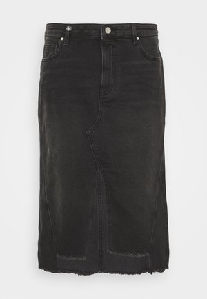 SKIRT - A-line skirt - black denim