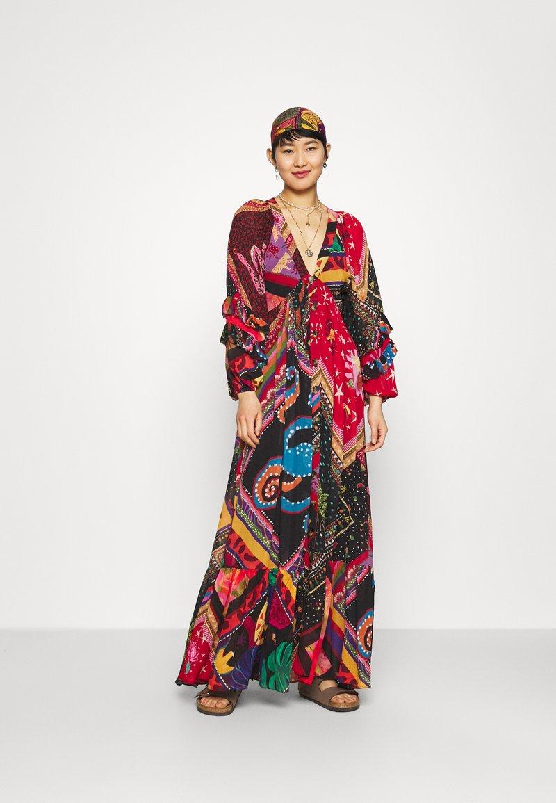 Farm Rio - DIAGONAL SCARF DRESS - Maxi dress - multi