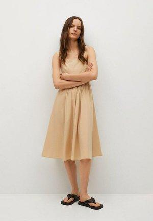 FIDEL-L - Day dress - open beige