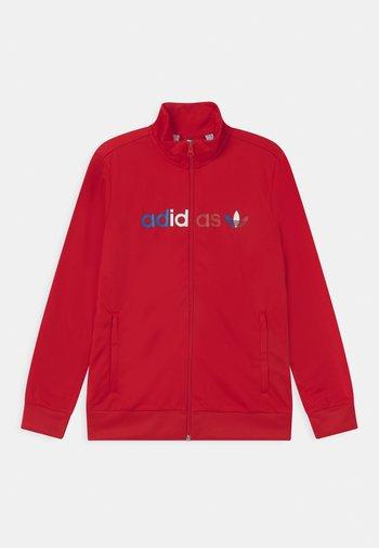 TRI COLOUR UNISEX - Training jacket - scarlet