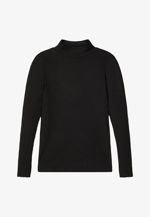 T-SHIRT LANGÄRMELIGES STEHKRAGEN - Long sleeved top - black
