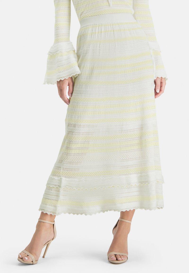 Nicowa - SANAWO - A-line skirt - white