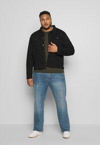 Another Influence - SLIM FIT JACKET - Denim jacket - black - 1