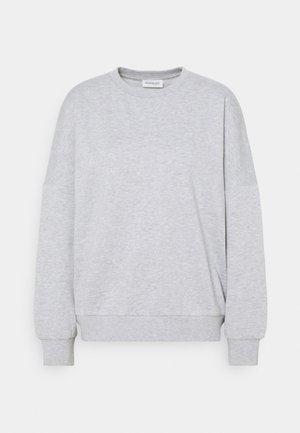 OVERSIZED CREW NECK SWEATSHIRT - Sweatshirt - mottled light grey