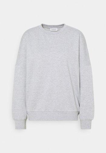 CREW NECK - Felpa - mottled light grey