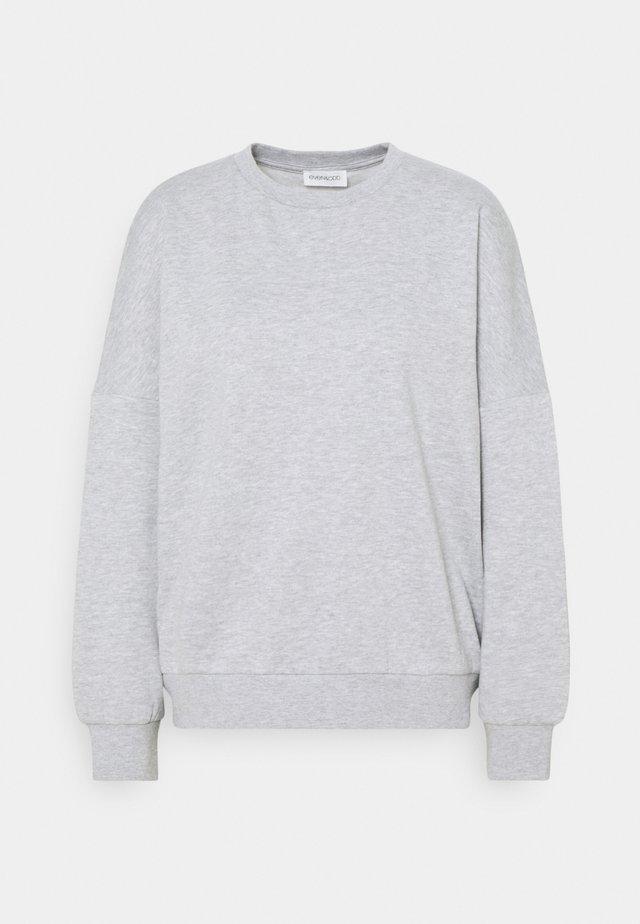 OVERSIZED CREW NECK SWEATSHIRT - Sweatshirts - mottled light grey