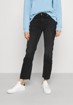 THE CROP SOHO WITH RAW CUT - Slim fit jeans - black