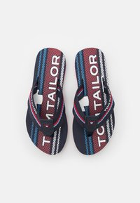 TOM TAILOR - T-bar sandals - navy/red - 3