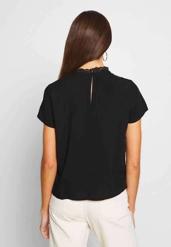 ONLY Petite ONLFIRST TOP - Bluzka - black/czarny WIHO