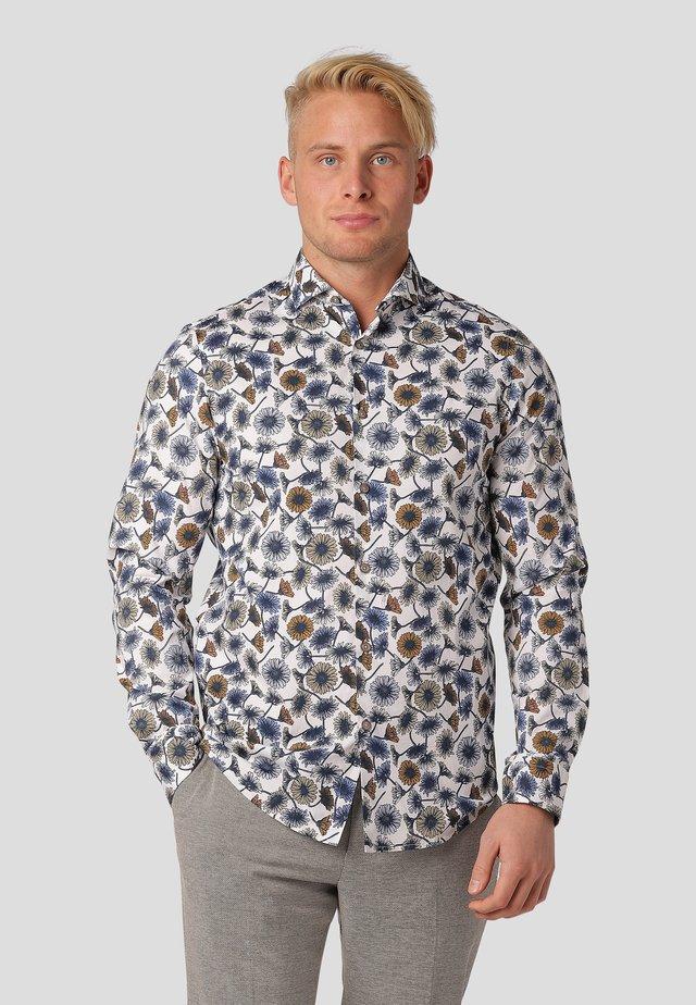 LYON LS - Shirt - ocean blue