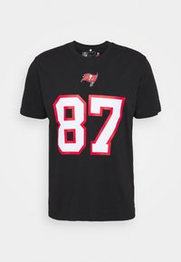 Fanatics - NFL ROB GRONKOWSKI TAMPA BAY BUCCANEERS ICONIC NAME NUMBER - Print T-shirt - black - 0