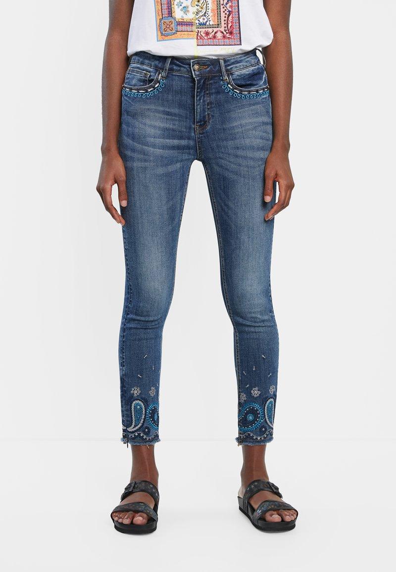 Desigual - PAISLEY - Jean slim - blue