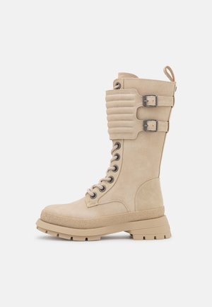 VEGAN SLOANE - Lace-up boots - cream
