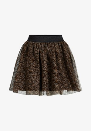 MEISJES TULE MET LUIPAARDPRINT - Mini skirts  - brown