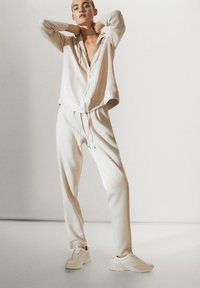 Massimo Dutti - Tracksuit bottoms - beige - 2