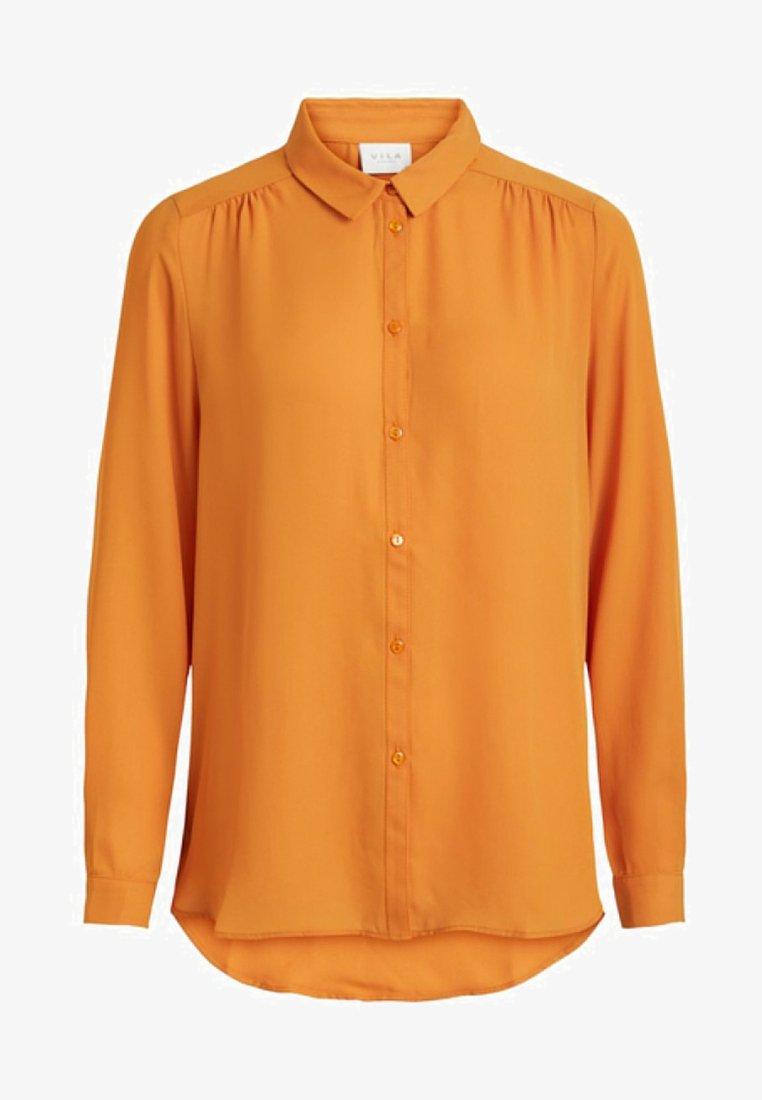 Vila - VILUCY - Button-down blouse - golden oak