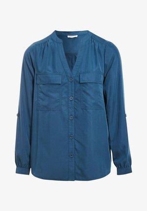 LONG SLEEVE - Button-down blouse - bleu pétrole