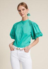 Luisa Spagnoli - BAUNY - Button-down blouse - turchese - 2