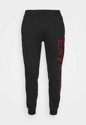 Pantalones deportivos - black/red