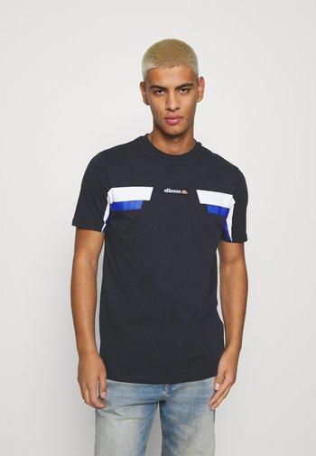 FELLION TEE - T-shirt imprimé - navy