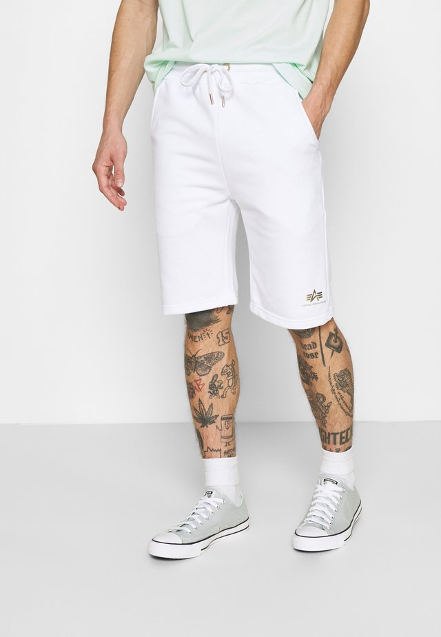 BASIC FOIL PRINT - Shorts - white/yellow gold
