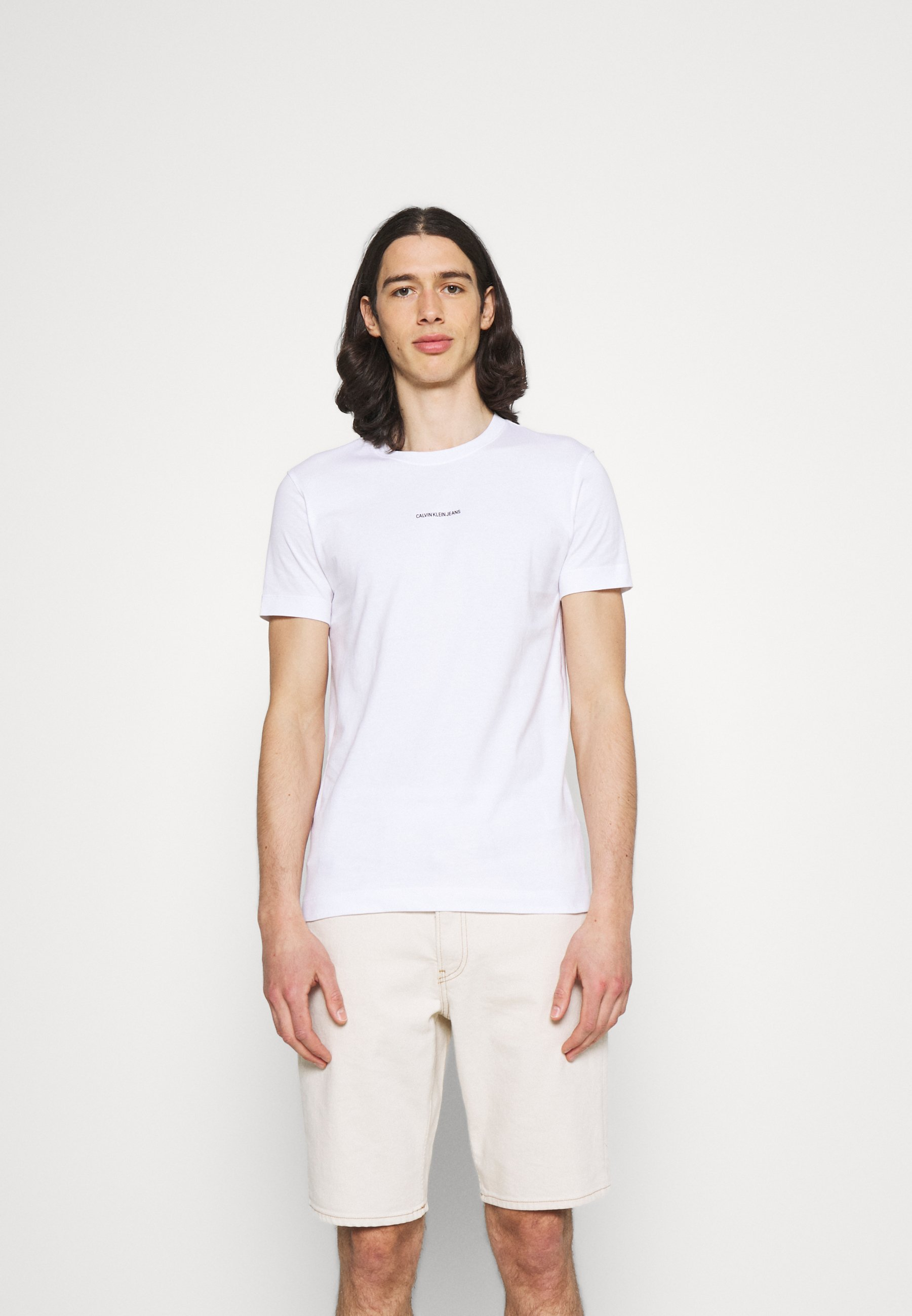 Men MICRO BRANDING ESSENTIAL TEE - Basic T-shirt