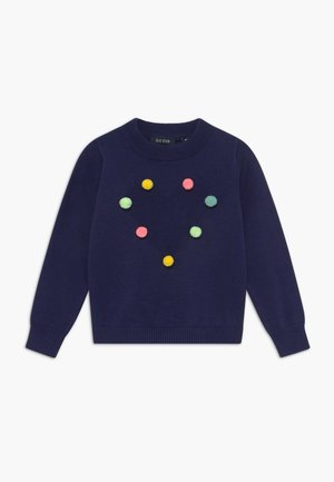 KIDS POM POM HEART - Jumper - ultramarin