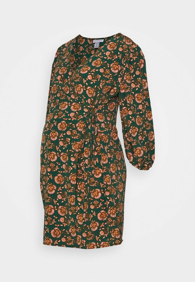 WILLIAM MORRIS WRAP DRESS - Vestito di maglina - green