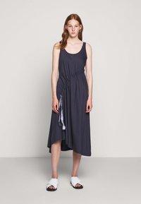 BLANCHE - DRAW DRESS TANK - Robe d'été - graphite - 0