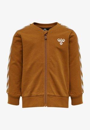 Sweater met rits - glazed ginger