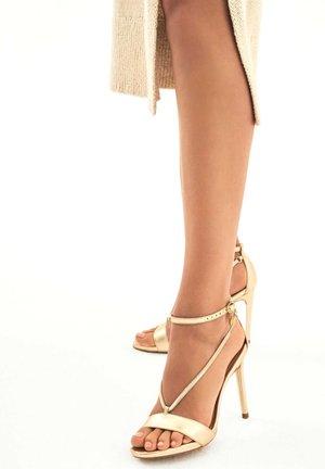 LAZURITE - Sandály na vysokém podpatku - gold
