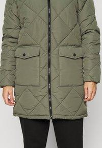 Noisy May Petite - NMFALCON LONG JACKET - Winter coat - dusty olive - 4