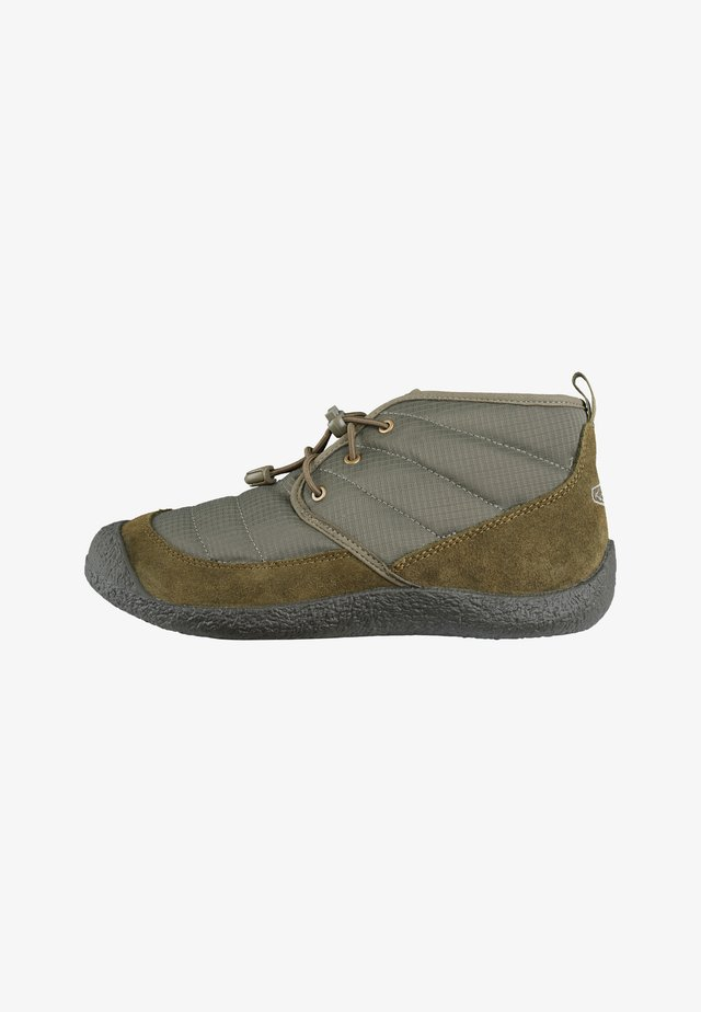 Bottines à lacets - dusty olive/dark olive