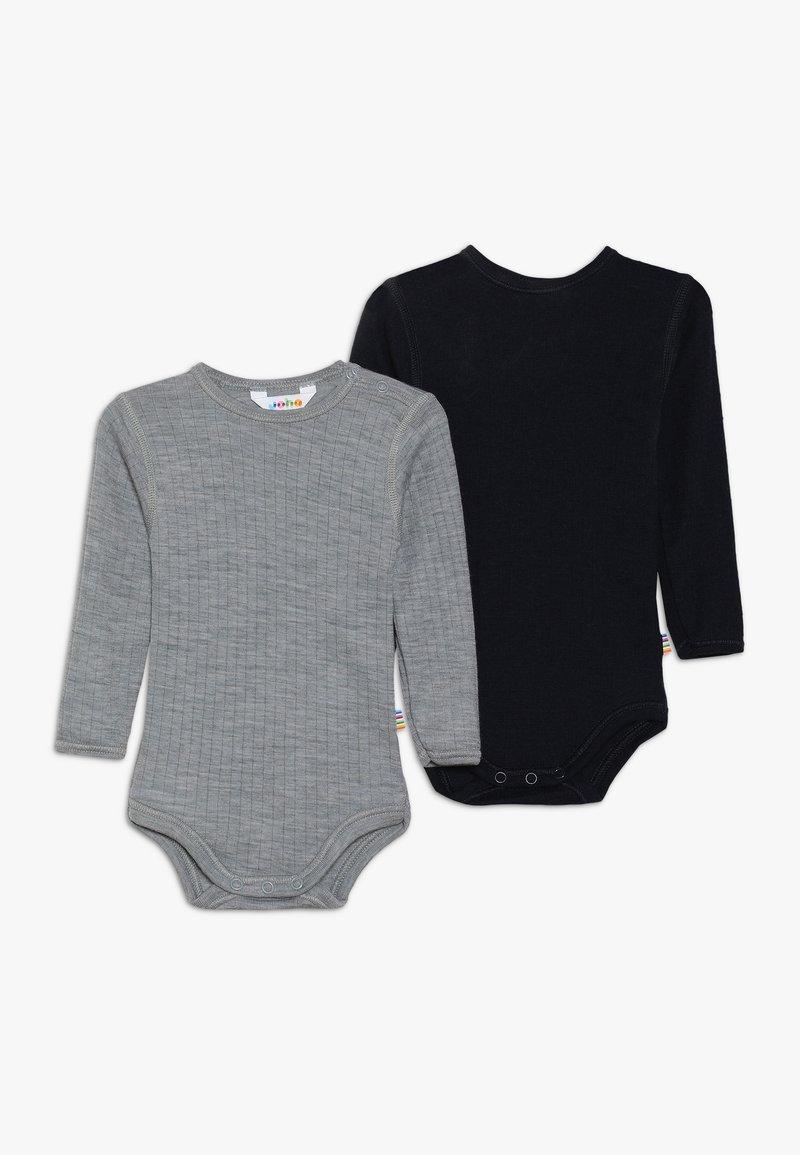 Joha - GIRLS 2 PACK - Body - navy/grey melange