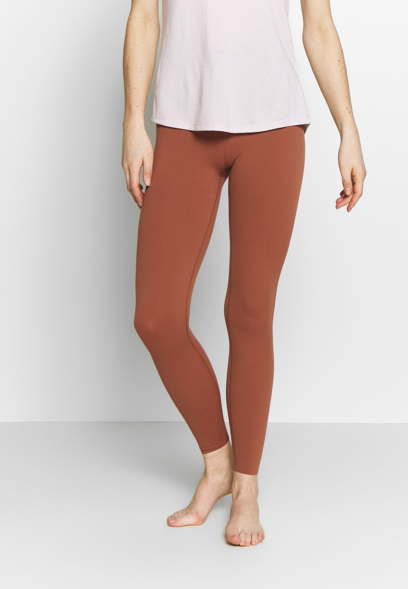 Nike Performance - THE YOGA LUXE - Tights - red bark/terra blush