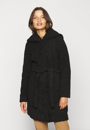 VMLUCINDA HOODY TEDDY JACKET  - Wollmantel/klassischer Mantel - black