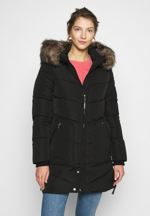 ONLROONA QUILTED COAT - Winter coat - black
