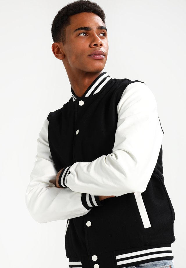 OLDSCHOOL COLLEGE - Veste mi-saison - black / white