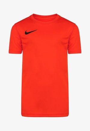 Basic T-shirt - bright crimson / black