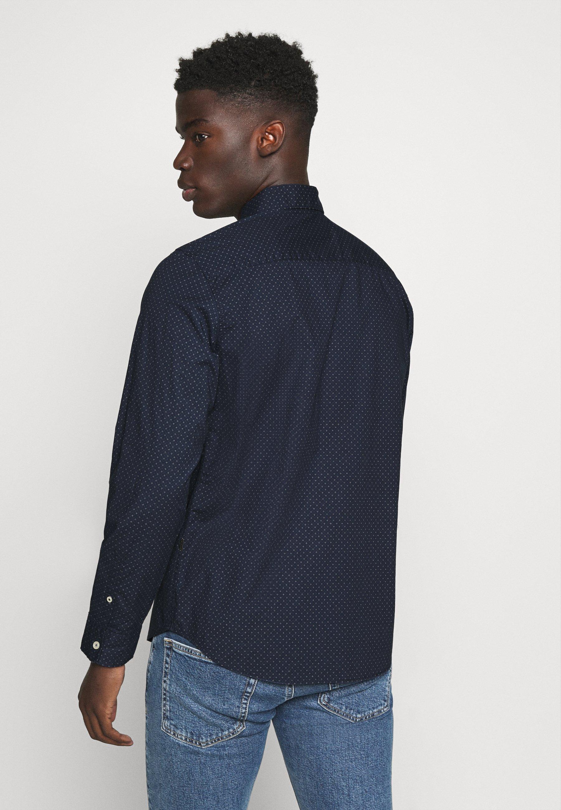 TOM TAILOR REGULAR PRINTED Skjorte blue Zalando.no